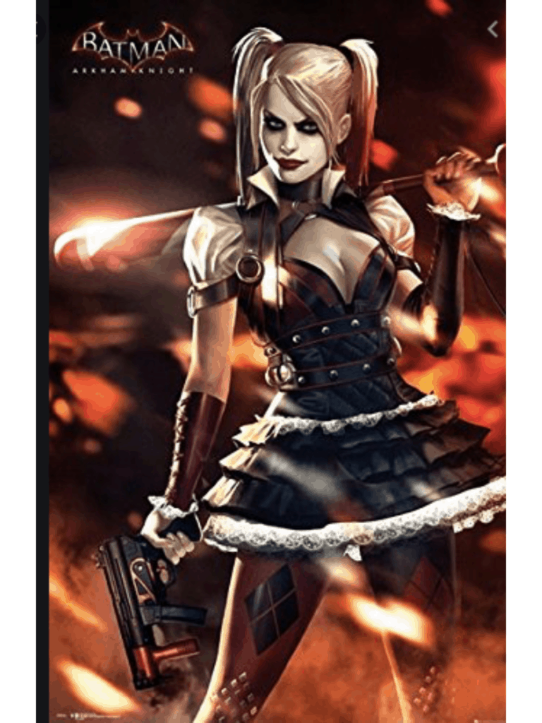 Harley Quinn style in Arkham Asylum video game