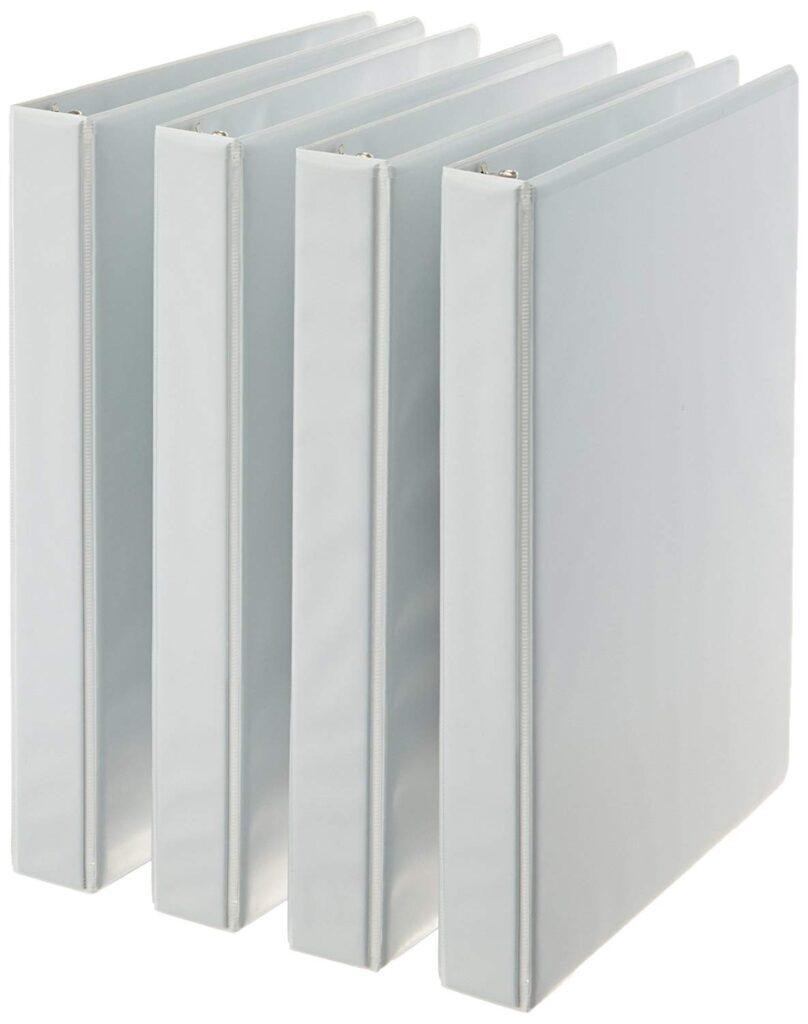 Amazon white binders