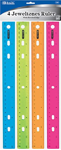 Colorful rulers from Amazon - college supplies checklist