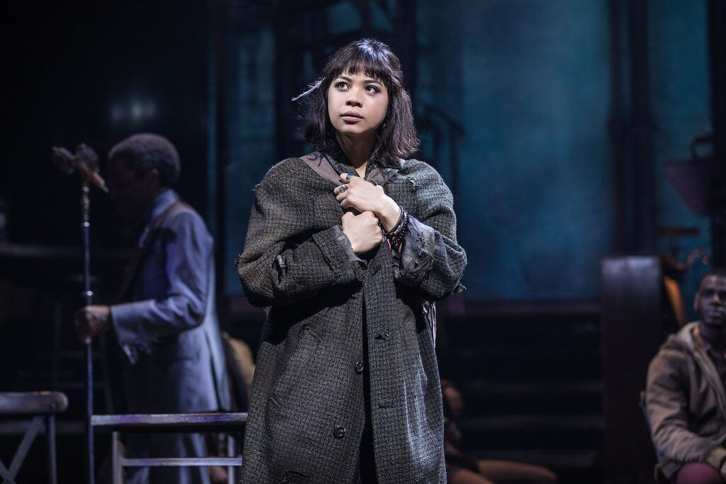 Promotional photo of Eurydice in Hadestown - hadestown fashion guide