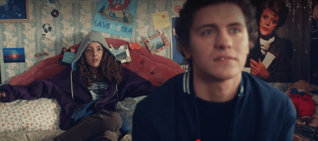Orla from Derry Girls wearing a hoodie