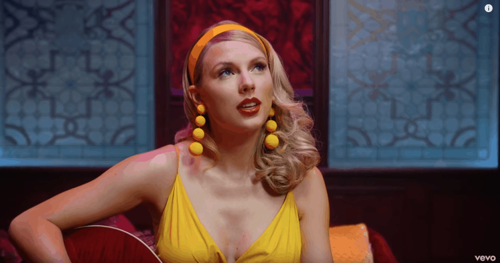 Taylor Swift Lover music video screenshot