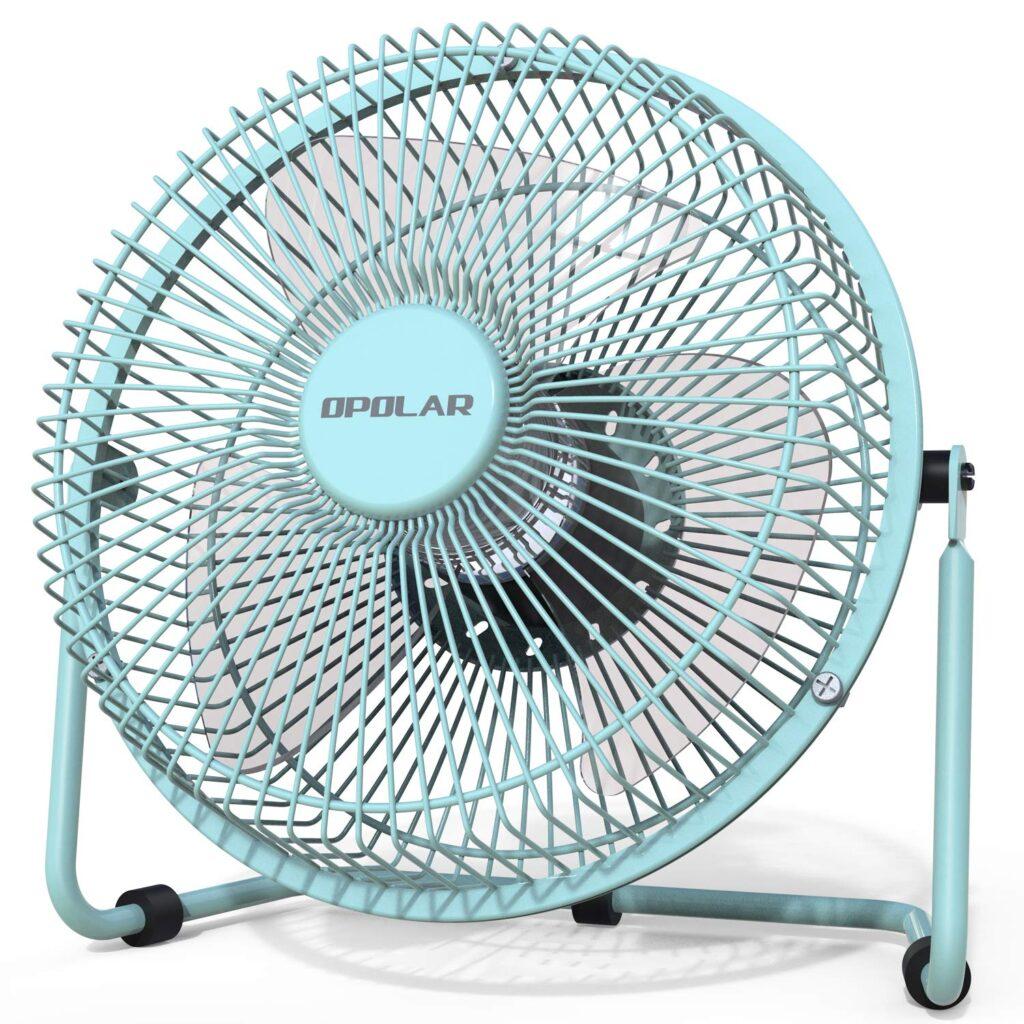 Mint green fan