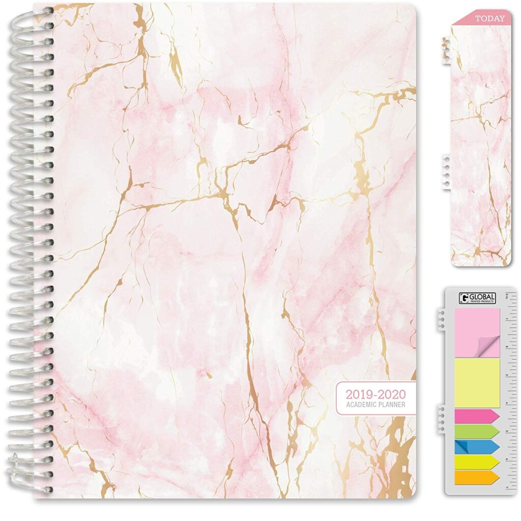 Pink marble planner