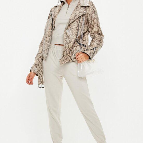 snake print moto jacket - best fall jackets