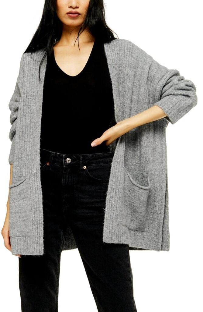 Topshop long cardigan - best affordable fall cardigans