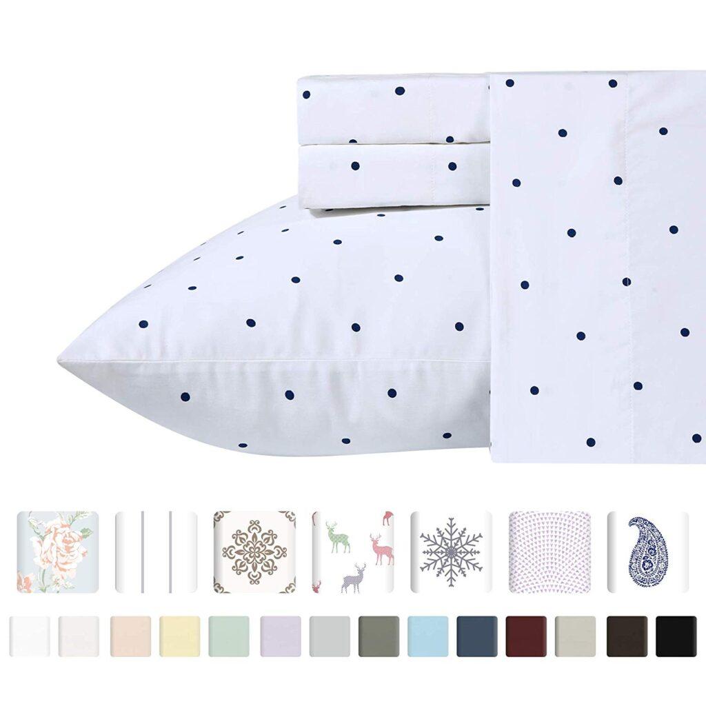 Twin XL sheets in polka dot