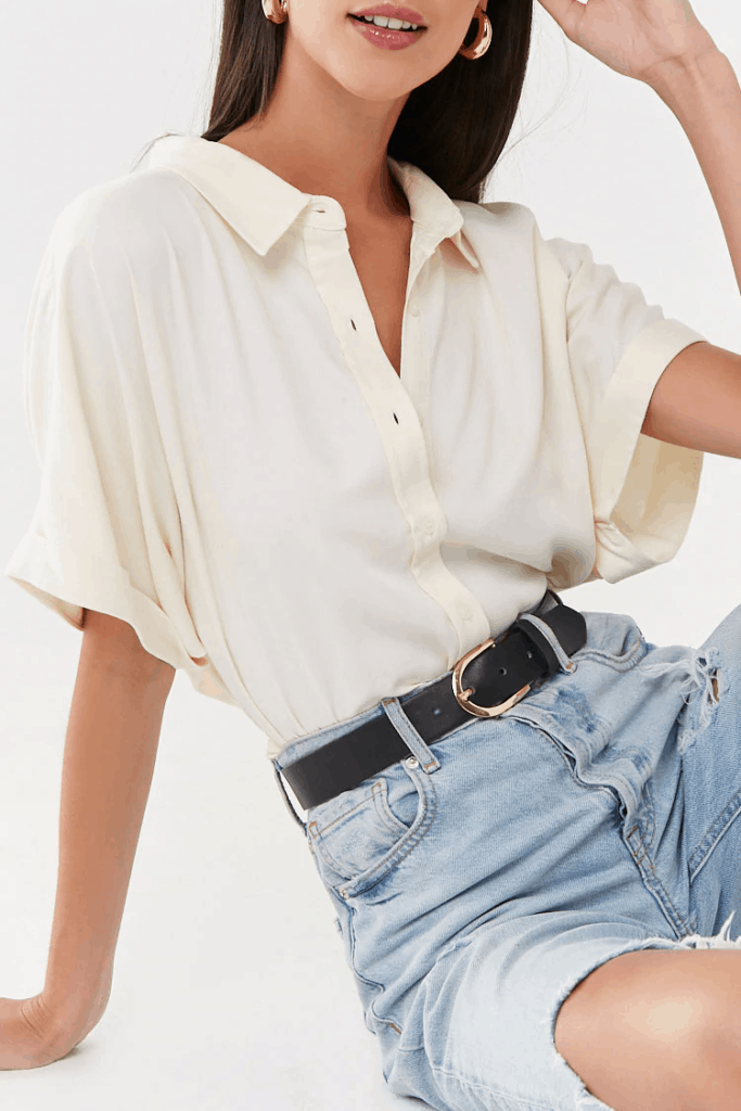 Cute fall tops - white blouse