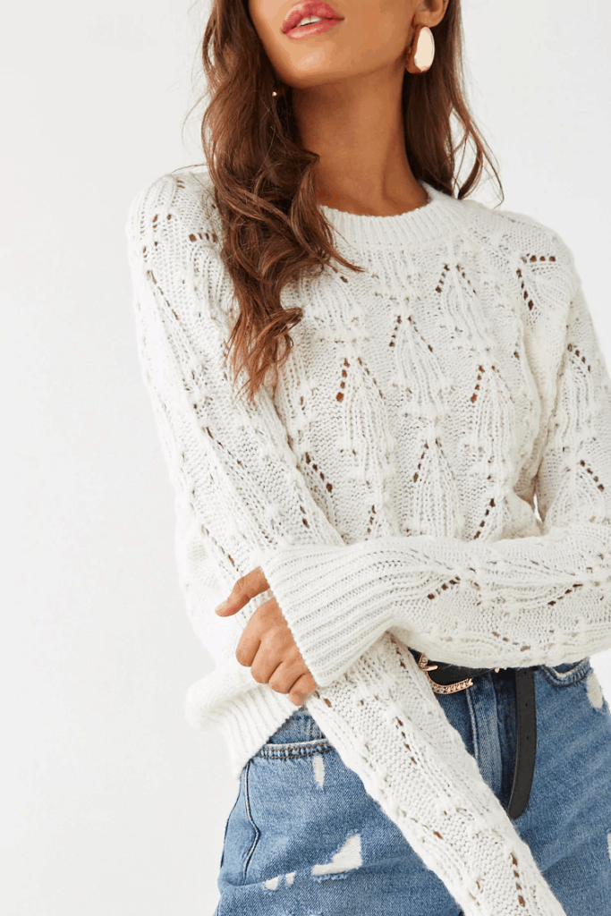 Fall tops 2019 - cream cable knit sweater from forever 21