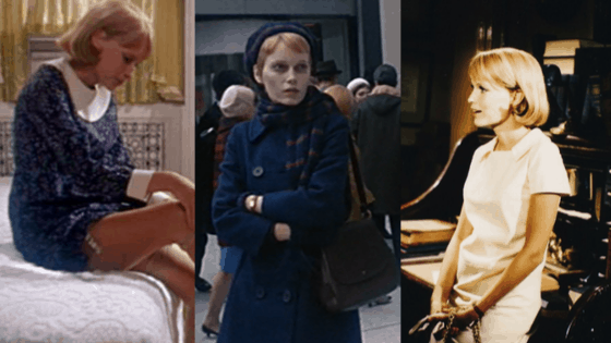 Rosemary's Baby fashion: 1960s outfits with mod dresses, hats, and coats