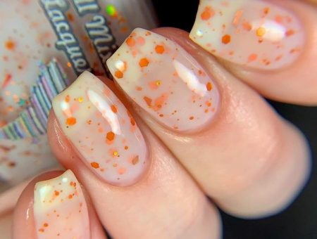 All mixed up nail polish in Pumpkin Chunkin