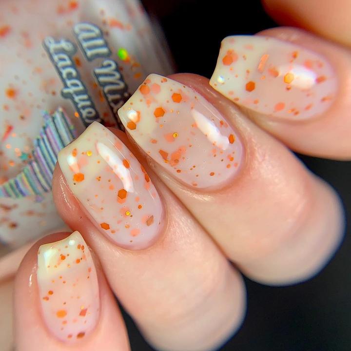 All mixed up nail polish in Pumpkin Chunkin
