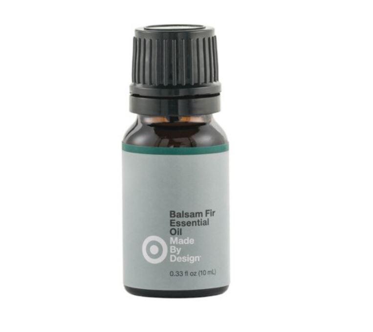 Fir essential oil bottle.