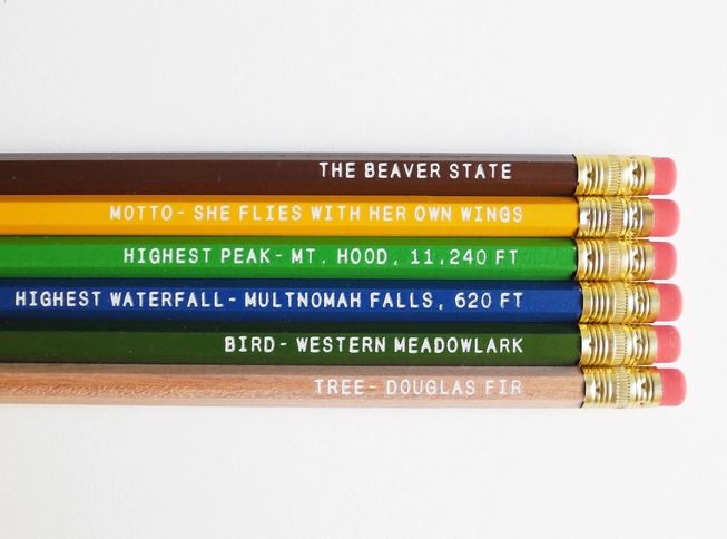 State pencils.