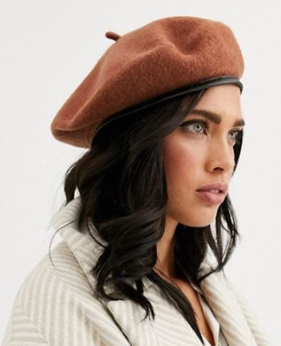 Headwear trends for fall: Brown beret