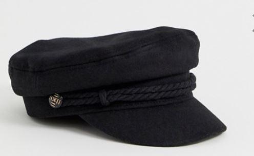 Black baker boy cap