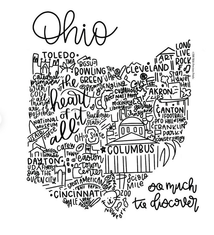 Ohio print.