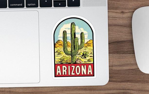 Arizona cactus sticker - best state decor ideas
