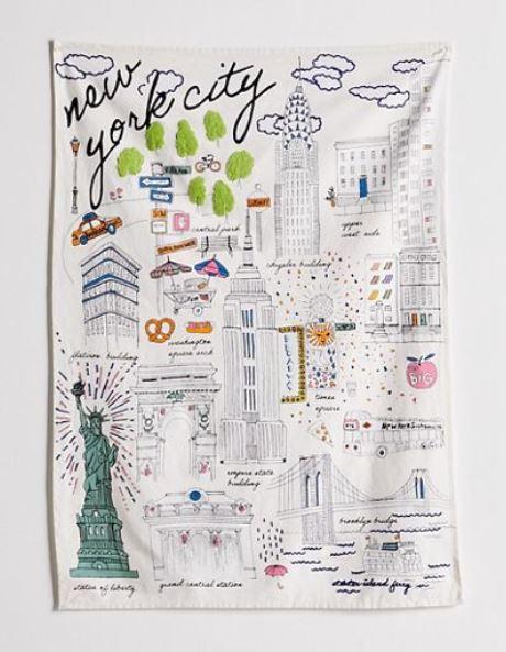 New York City tapestry.