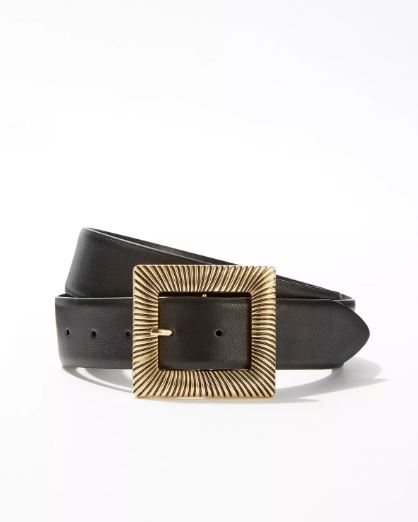 Wide buckle belt inspired by Carla from Elite's style