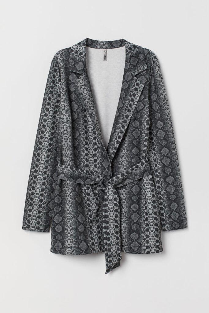 snake print jacket