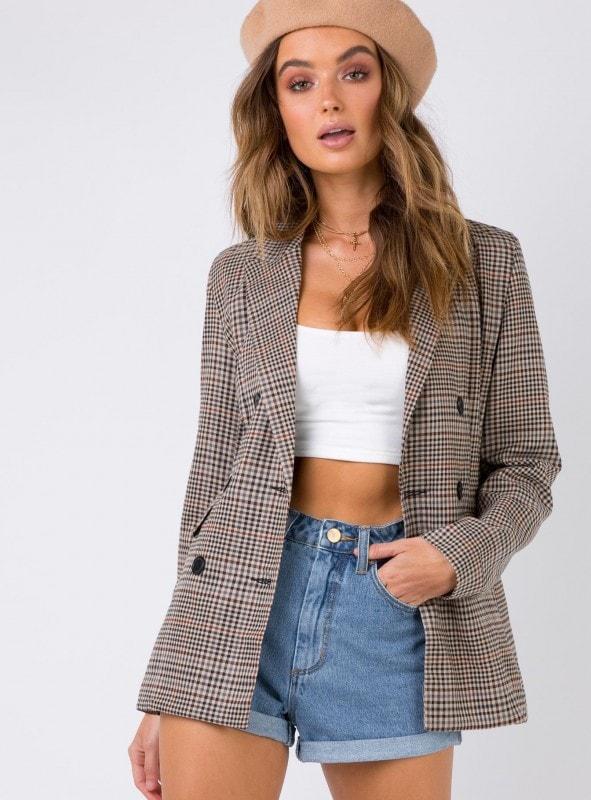 plaid blazer - fall 2019 trends