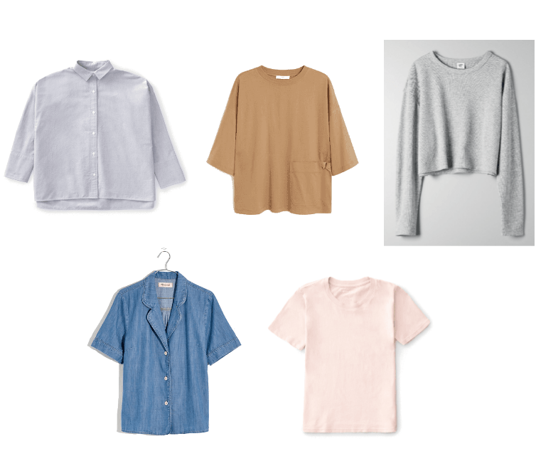 Five Updated fashion Basics You Need in Your Closet ASAP: Boxy Tops