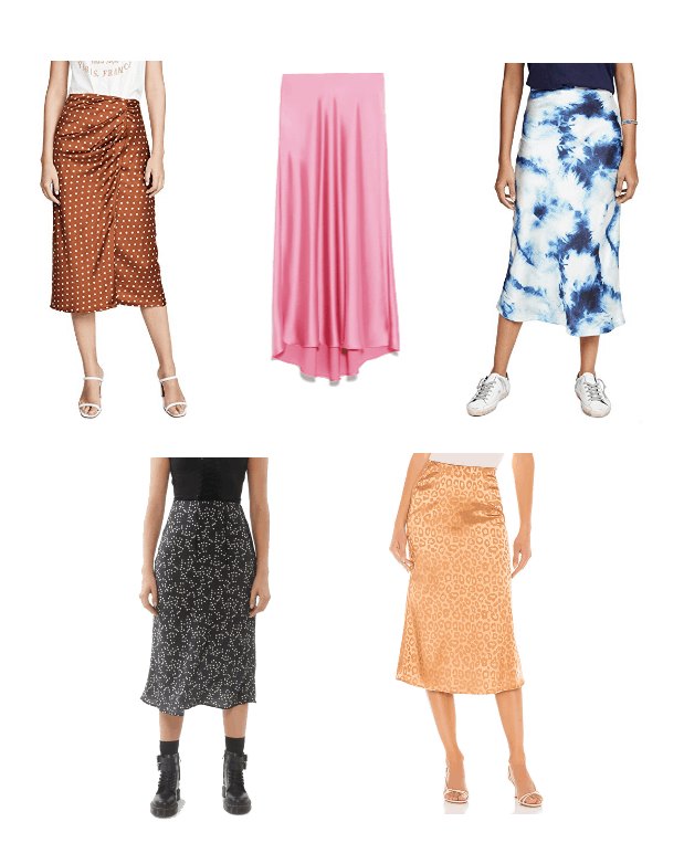 Five Updated fashion Basics You Need in Your Closet ASAP: Silky Slip Skirts