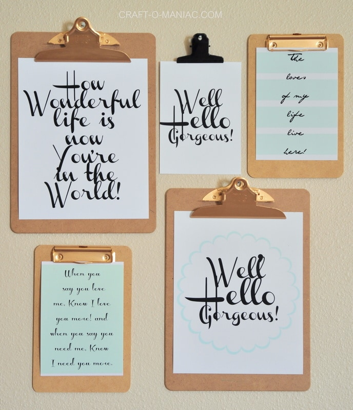 quotes on clipboards
