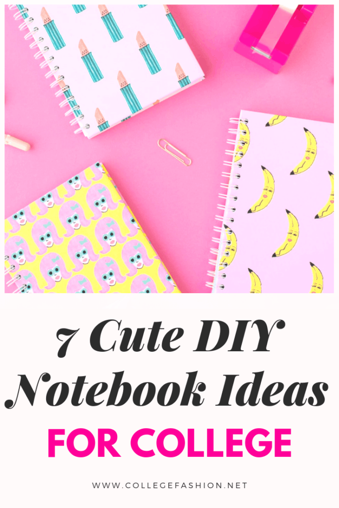 DIY notebook ideas for school - cute notebook ideas for college and high school