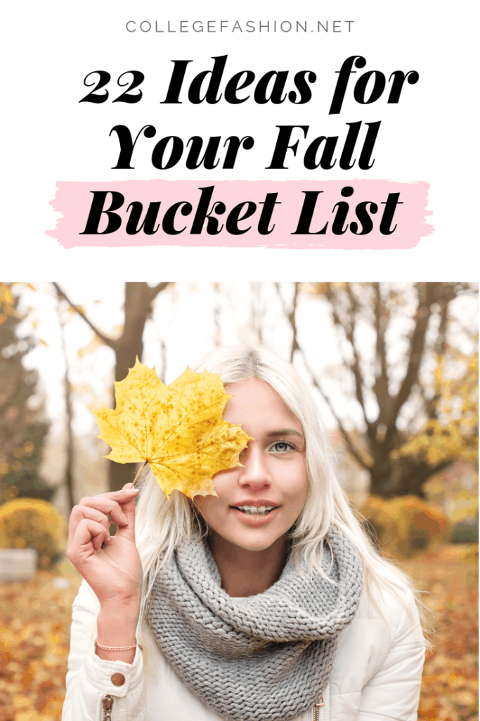 The best fall bucket list - 22 ideas for things to do in fall