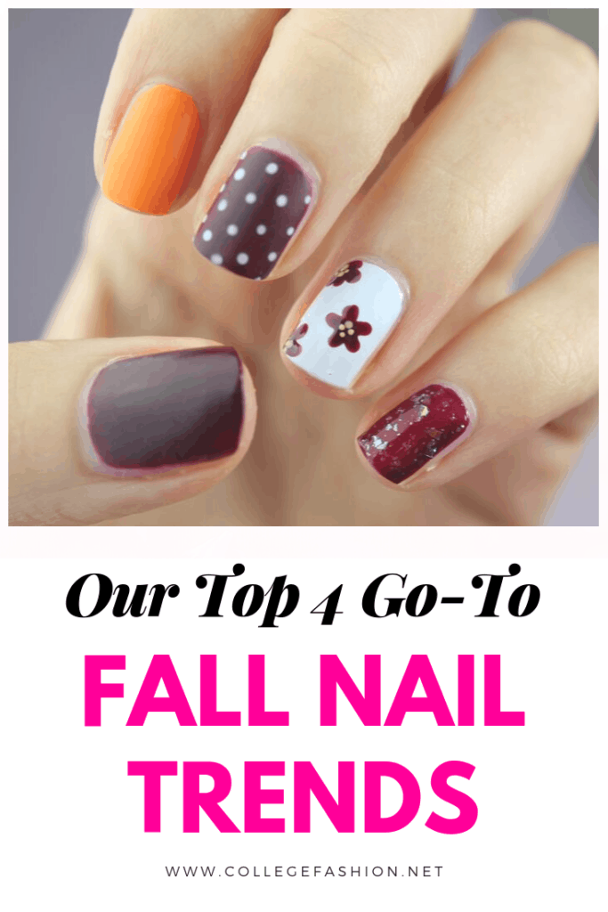 Fall nail trends to try - multicolored nails