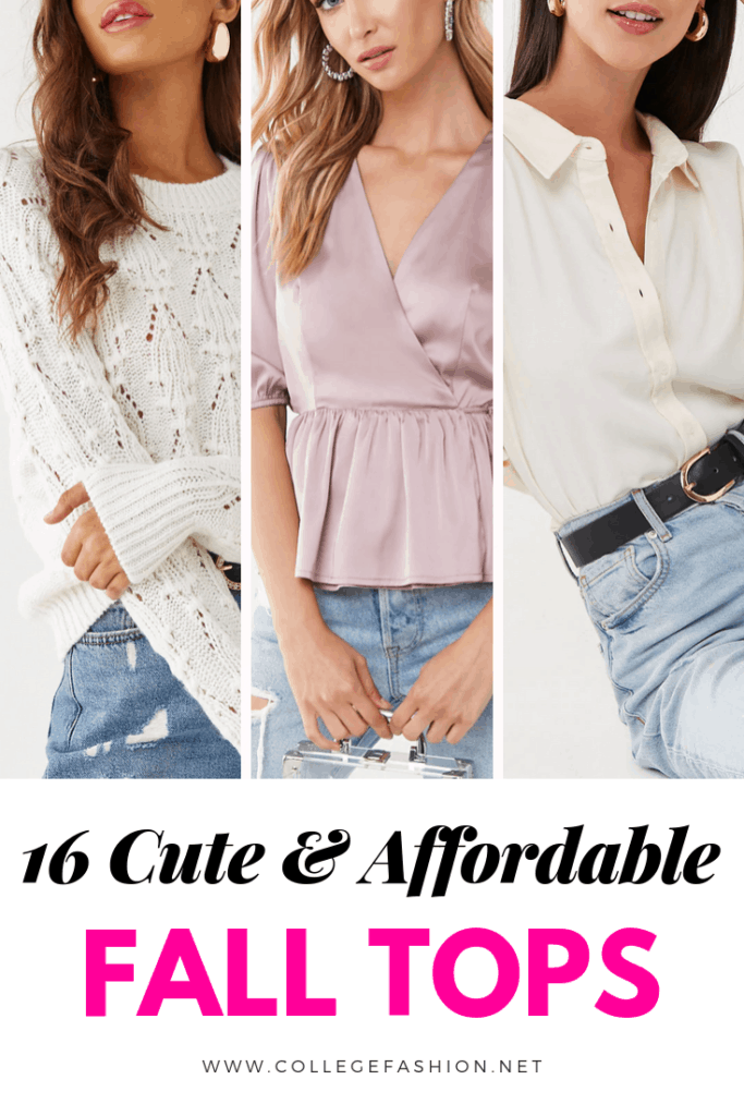 16 cute and affordable fall tops 2019