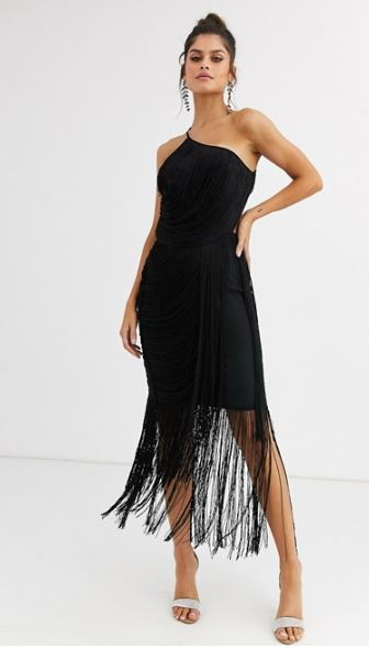 Fringe dress inspired by Carla from the TV show Elite
