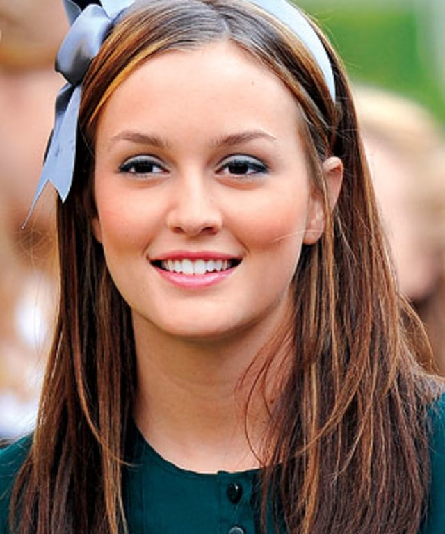 Blair Waldorf wearing a statement headband, one of the hottest headwear trends this season