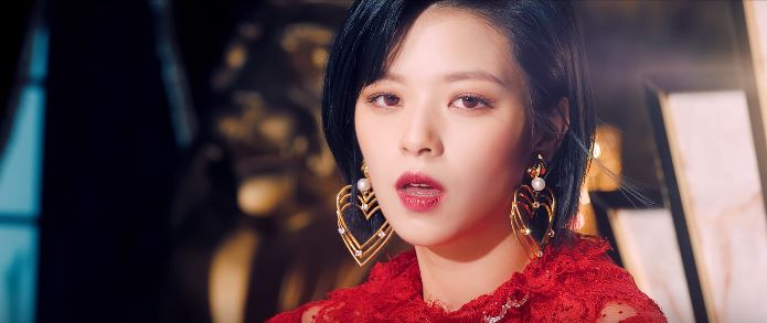 Twice feel special outfits: Jeongyeon in red