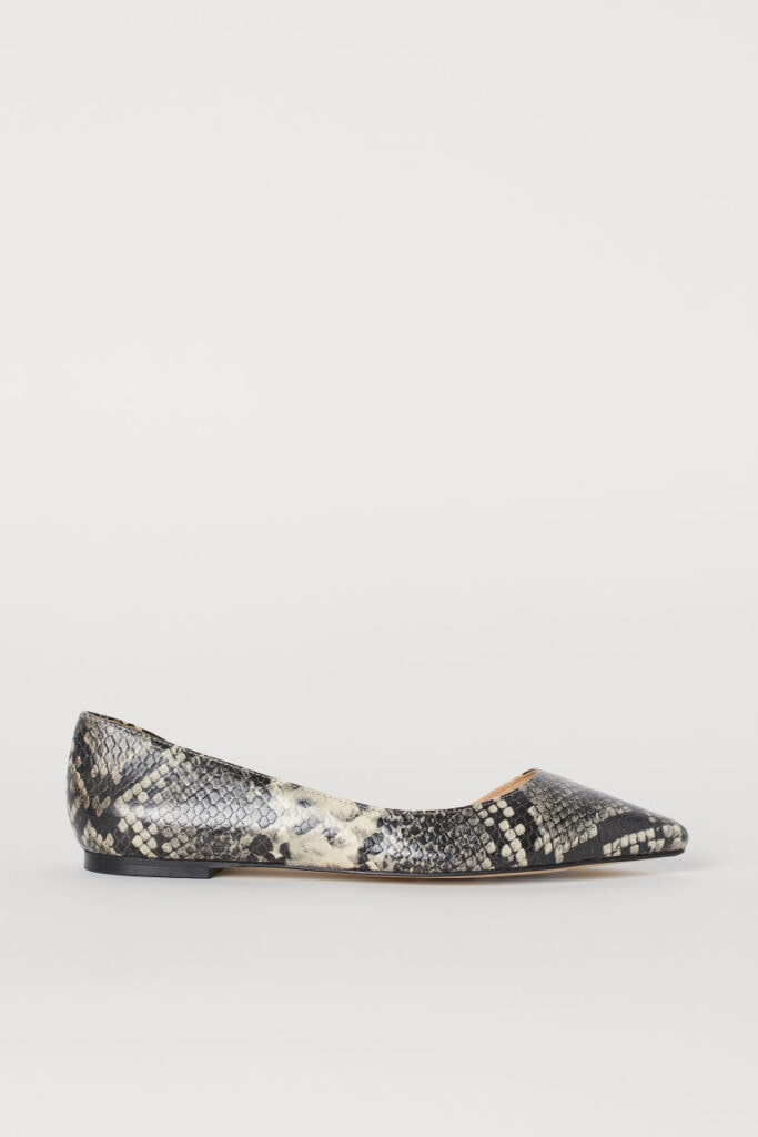 Cute flats - Snake-Print D'Orsay Pointed-Toe Ballet Flat