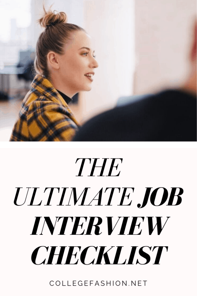 The ultimate job interview checklist for recent grads