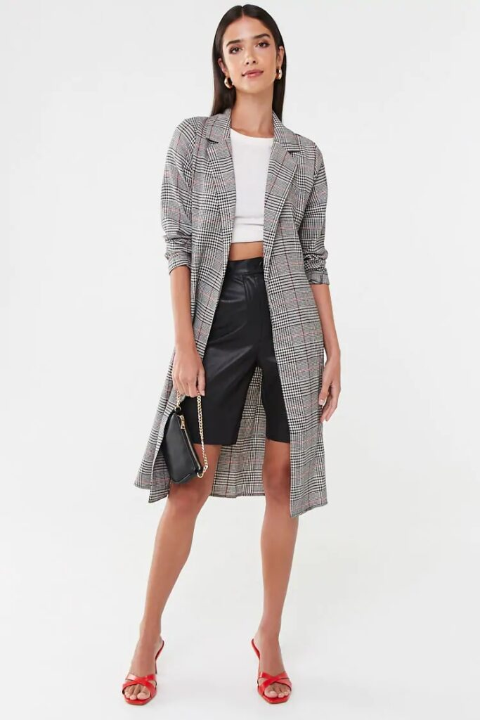 plaid trench coat - best fall jackets 2019