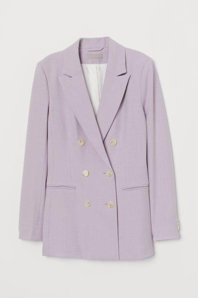 purple blazer - fall 2019 trends