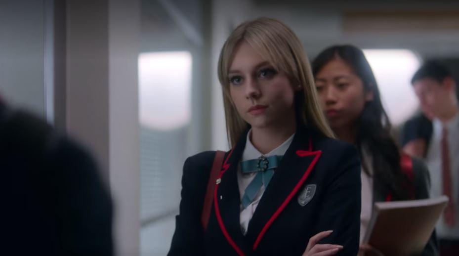 Carla Elite style - carla wearing her school uniform blazer
