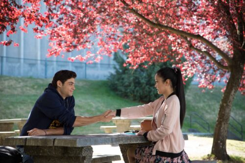 Best back to school movies - To All the Boys I've Loved Before lara jean and peter handshake scene