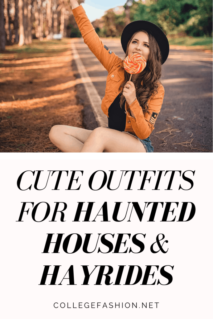 What to wear to haunted houses and hayrides - cute outfit ideas