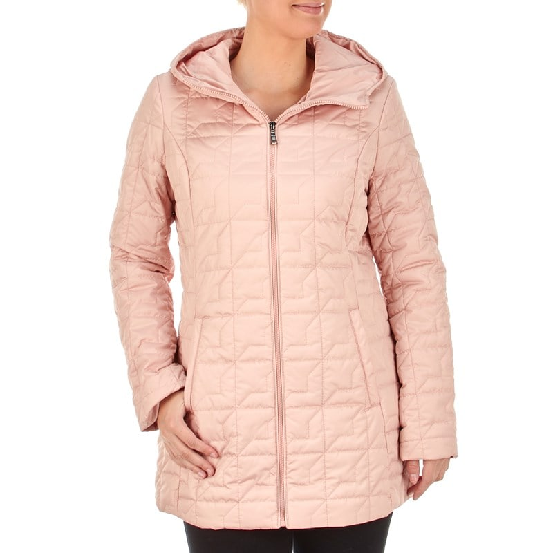 Burlington Coat Factory Quilted Zip-Front Coat with Attached Hood