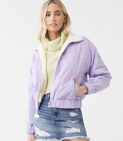 Best affordable winter coats: Forever 21 Faux Shearling-Lined Jacket