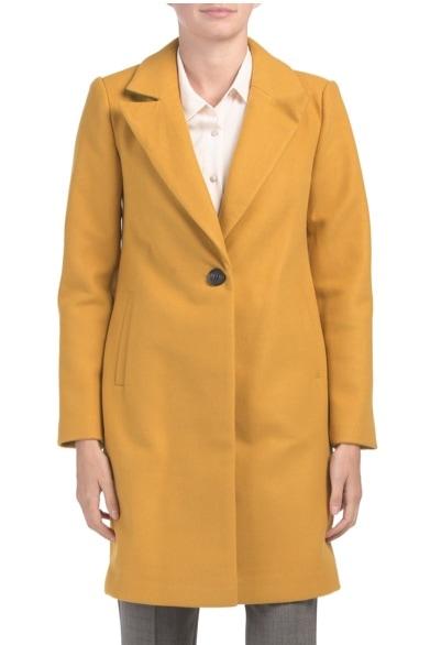 TJMaxx DEPT. 19 Crombie Single Button Coat