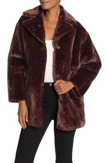 Best affordable winter coats: Nordstrom Rack T Tahari Faux Fur Notch Lapel Coat