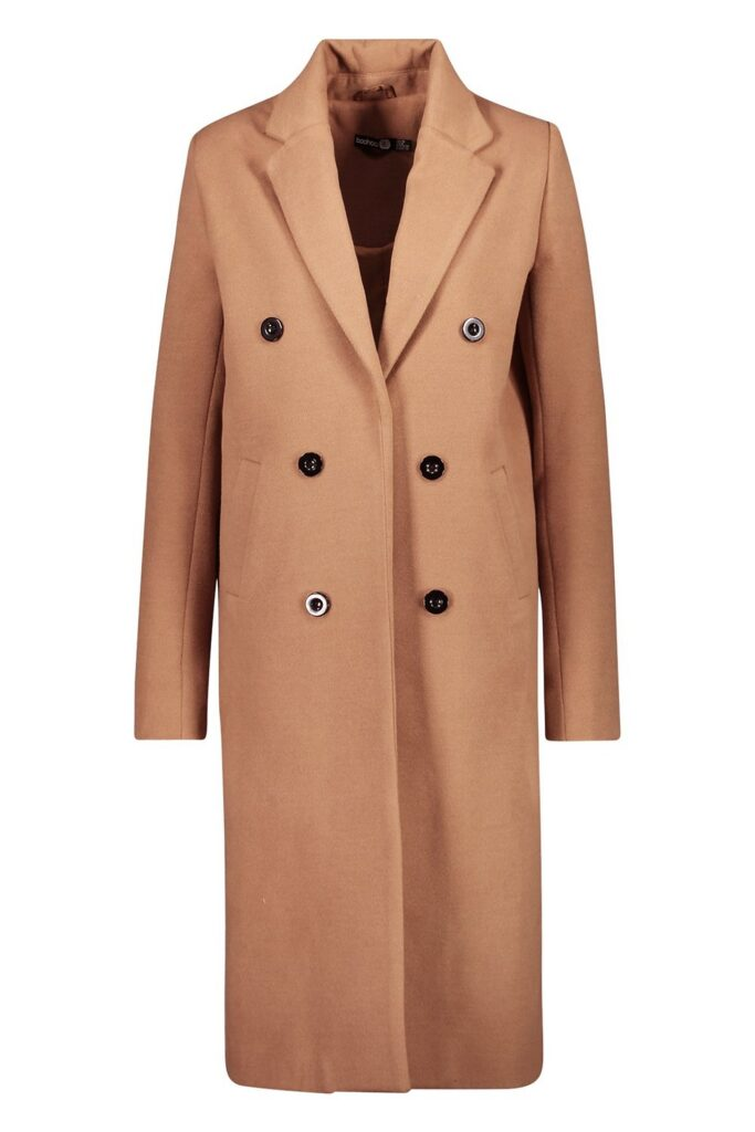 Best affordable winter coats: Boohoo Tall Double Breasted Coat