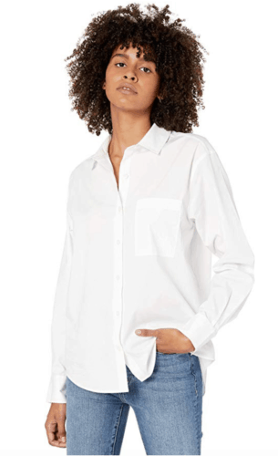 White button down shirt from The Drop