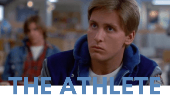 The Breakfast Club fashion - The Athlete, Andrew